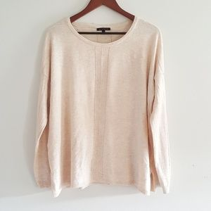 Staccato cream light weight sweater size large